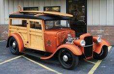 A 1930 Woodie Wagon custom designed by Tallant Hot Rods of KCMO. Check the detail! Miles of pinstripes...