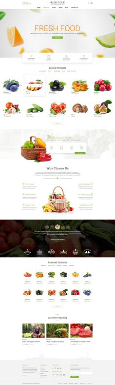 Fresh Food – Organic Food/Fruit/Vegetables eCommerce PSD Template • Download ➝ https://themeforest.net/item/fresh-food-organic-foodfruitvegetables-ecommerce-psd-template/18066207?ref=pxcr