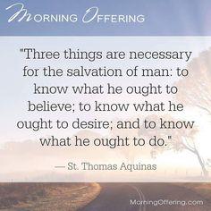 @Regrann from @morningoffering -  The three necessary things. #saintquote #aquinas #believe #MorningOffering #regrann