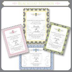 Garden wedding invitations, free download