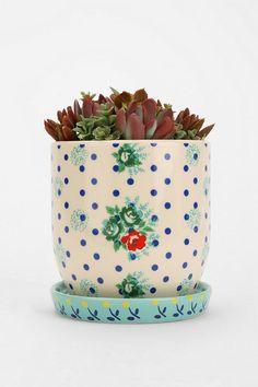 Plum & Bow Floral Pattern Planter Online Only