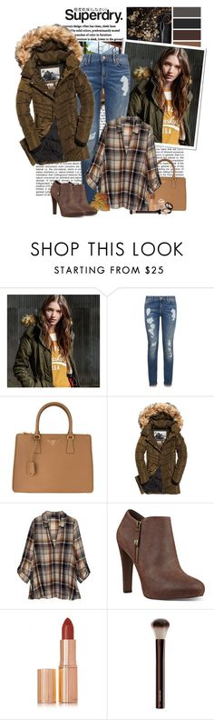 """The Cover Up – Jackets by Superdry: Contest Entry"" by polybaby ❤ liked on Polyvore featuring Superdry, Tommy Hilfiger, Prada, Bobeau, Nine West, Charlotte Tilbury, Armani Privé and MySuperdry"
