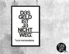 """SHOPPINGTIME."" | typo poster | size L von FUNI SMART ART auf DaWanda.com"