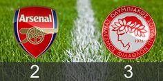 Arsenal 2 - Olympiakos 3 #championsleague #arsenal #olympiakos