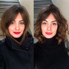 Ideas Hair Cuts Lob Stylists For 2019 Messy Hairstyles, Pretty Hairstyles, Hairstyles 2018, Medium Hair Styles, Curly Hair Styles, Girls Short Haircuts, Great Hair, Hair Today, Hair Dos