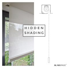 When planning for concealed roller blinds, remember to allow for any protruding door and window handles.