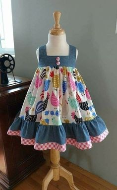 Sewing to children - patterns, needlework - Cute Outfits Baby Summer Dresses, Toddler Girl Dresses, Little Girl Dresses, Baby Dresses, Peasant Dresses, Summer Baby, Dress Summer, Girls Dresses, Baby Girl Dress Design