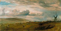 John Constable - A Windmill near Brighton (1824)