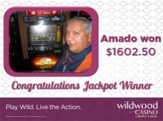 WOW, Amado took home $1,602.50! Congrats! Come on out to hit your jackpot! Jackpot Winners, Jukebox, Poker, Lunch Box, Bento Box