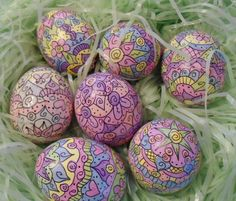 Easter Eggs! I love my BIC markers!!