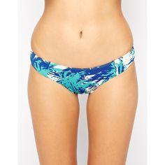 Sunseeker Palm Retro Hipster Bikini Bottom (€5,06) ❤ liked on Polyvore featuring swimwear, bikinis, bikini bottoms, cobalt, retro swimwear, hipster bikini, swimming bikini, hipster bikini bottom and low rise bikini