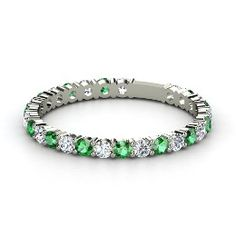 Emerald ring; a must for every girl who can pull off all white