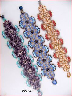 Amorgos : Bracelet Tutorial from Mu. Choice French or English Download. Free.