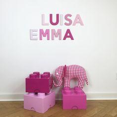 Stoffbuchstaben Für Greta In Rosa Gelb Und Grau #stoffbuchstaben #name  #namensbuchstaben #buchstaben #individuell #baby #baby2016 #u2026