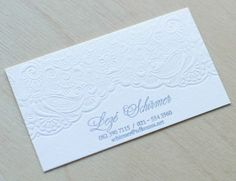 Business Cards by Essie Letterpress , via Behance