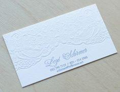 Business Cards by Essie Letterpress - Cartes de visite en letterpress