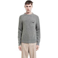 205894928be Acne Studios - Chet op grey melange - Knitwear - SHOP MAN - Shop Shop Ready  to Wear