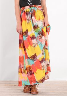 painted chaos maxi skirt.