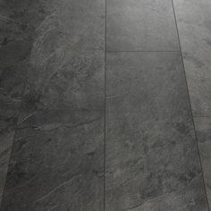 Quick-Step Livyn Tile Black Slate Luxury Vinyl Tile More Tap the link now to see where the world's leading interior designers purchase their beautifully crafted, hand picked kitchen, bath and bar and prep faucets to outfit their unique designs. Black Vinyl Flooring, Vinyl Flooring Bathroom, Luxury Vinyl Tile Flooring, Slate Flooring, Vinyl Tiles, Luxury Vinyl Plank, Diy Flooring, Flooring Ideas, Flooring Types