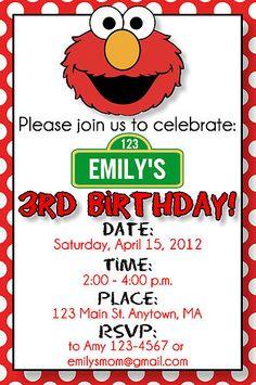 Elmo Birthday Invitation