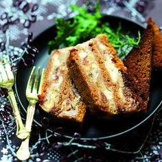 Terrine de roquefort aux fruits secs et au pain d'épice