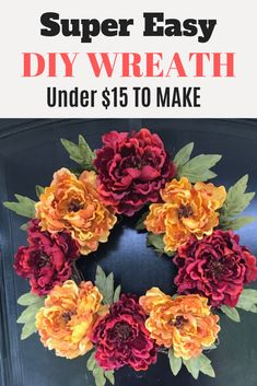 Quick & Easy DIY Wreath Under $15 | Grace Monroe Home