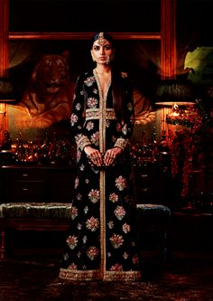 """Sabyasachi's Firdaus Collection Firdaus is the highest garden in paradise, and in Sabyasachi rendition, most of the ingredients in the garden have traveled from as far as Burma, Ghana, and. Pakistani Couture, Indian Couture, Pakistani Outfits, Sabyasachi, Lehenga Choli, Anarkali, Bridal Lehenga, Sarees, Ethnic Outfits"