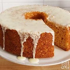 Start with box cake mix to create this shortcut cake recipe. The addition of canned pumpkin adds a fun flavor twist and extra moistness to this angel food cake.