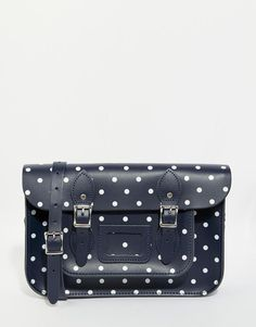 Leather Satchel Company | The Leather Satchel Company 12.5 Satchel In Polka Print at ASOS