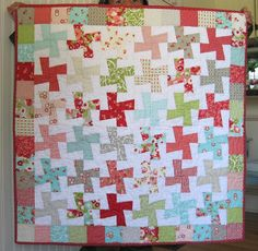 Ruby baby quilt FREE US SHIPPING by LittlePincushion on Etsy, $85.00