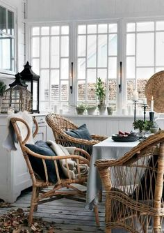 I don't know about you, guys, but to me rattan furniture reminds of vacation and beach houses. Decorate your home, terrace and patio with rattan furniture Wicker Furniture, Outdoor Furniture Sets, Rattan Dining Chairs, Wicker Table, Wicker Baskets, Dining Room, Wicker Shelf, Wicker Man, Wicker Couch