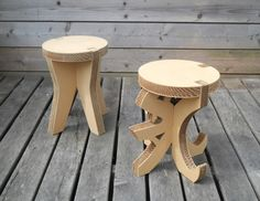 SeARCH, Stool, 2010  five different stools depicting the five world religions, edition of 10  sawed out of cardboard plate