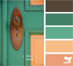 Palette Door Hues by Design Seeds Palettes Color, Colour Pallette, Color Palate, Colour Schemes, Color Combos, Color Patterns, Pantone, Design Seeds, Monochrom