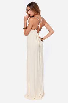 Lovely Cream Dress - Maxi Dress - Boho Dress - $59.00