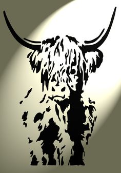 The Handmade Heifer Shabby Chic Highland Cow cattle Stencil Vintage Wall design 2 full Animal Stencil, Stencil Art, Shabby Chic Stencils, Wood Carving Designs, Silhouette Clip Art, Cow Painting, Wood Burning Patterns, Cow Art, Stencil Patterns