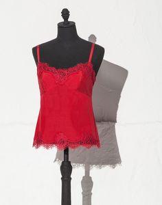 9456ad2d6082b Solid cord lace top | dolce&gabbana online store Koronkowe Topy, Inspiracja  Kolorem, Bluzy