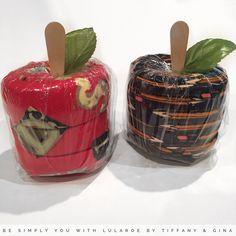 LuLaRoe legging gift wrap:  teacher's apple