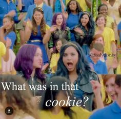"""What was in that cookie?"" --- mal & evie, did i mention? From ben from Disney descendants"