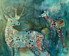 As a deer...Nicolette Geldenhuys. www.nicolettegeldenhuysart.co.za