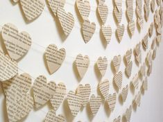 Vintage Paper Hearts Garland. Would love for office