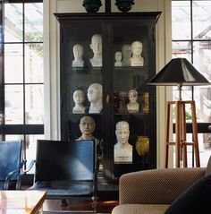 Great collection of Phrenology heads.