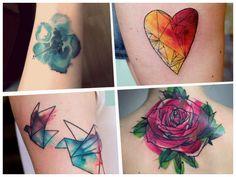 11 tatuajes tipo acuarela