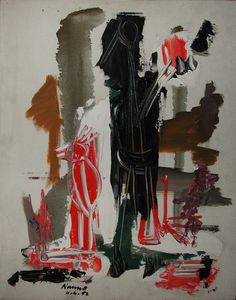 Nanno de Groot, Untitled, 1952  Oil on canvas, 20 x 16 inches