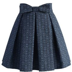 Chicwish Sweet Your Heart Jacquard Skirt in Mosaic Pattern ($45) ❤ liked on Polyvore featuring skirts, blue, heart skirt, blue skirt and jacquard skirt