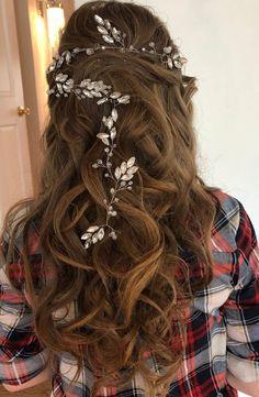 Wedding Hair Pins, Bridal Hair Vine, Babys Breath Hair, Wedding Accessories For Bride, Hair Wreaths, Floral Hair, Hair Piece, Wedding Hairstyles, Just For You