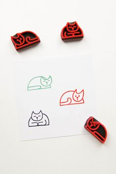 #rubber #stamps #rubberstamps #handcarved #woodland #WoodlandTale #cat #animal