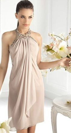 Are you looking your best dress for a special occasion, simply browse evening wear options at All For fashion design and find your inspiration. You'll find everything you need for a big event just check this amazing photos with glamour and very stylish Beautiful Dresses, Nice Dresses, Short Dresses, Dress Outfits, Fashion Dresses, Dress Up, Nude Dress, Bridesmaid Dresses, Prom Dresses