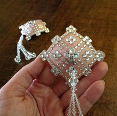 Starry Nude Diamond Swarovski rhinestone pasties with Signature Tassels by Manuge et Toi