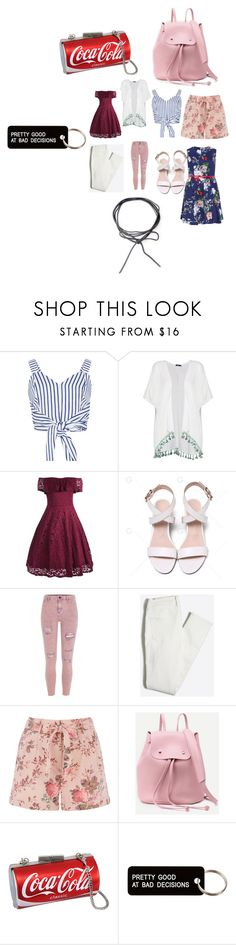 """Untitled #9351"" by lover5sos ❤ liked on Polyvore featuring WithChic, Boohoo, River Island, Various Projects and Samya"