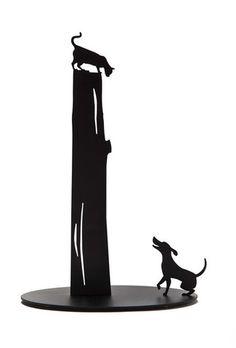 Dog vs. Cat Paper Towel Holder | QUIRKS